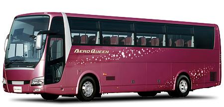 三菱ふそうの大型観光バス「エアロクィーン」