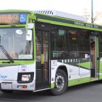 国際興業バスの「いすゞ新型エルガノンステップバス」