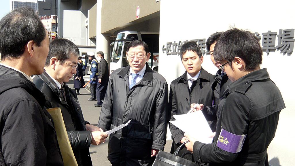 日本バス協会 街頭指導