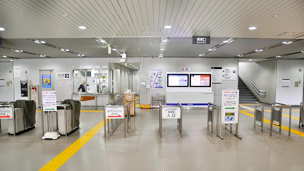 大曽根駅の階段orエスカレータを昇った2階部分にある改札口。ただし乗車場入口側はスルー。