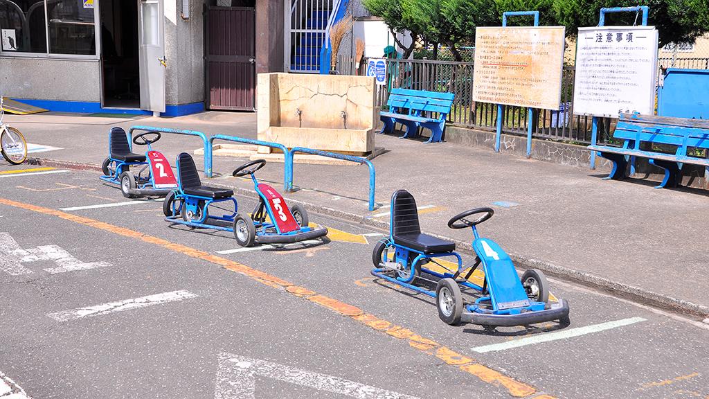 交通公園ということで、足こぎゴーカートなども用意されている。なお団体で利用する場合には事前申し込みが必要とのことだ。