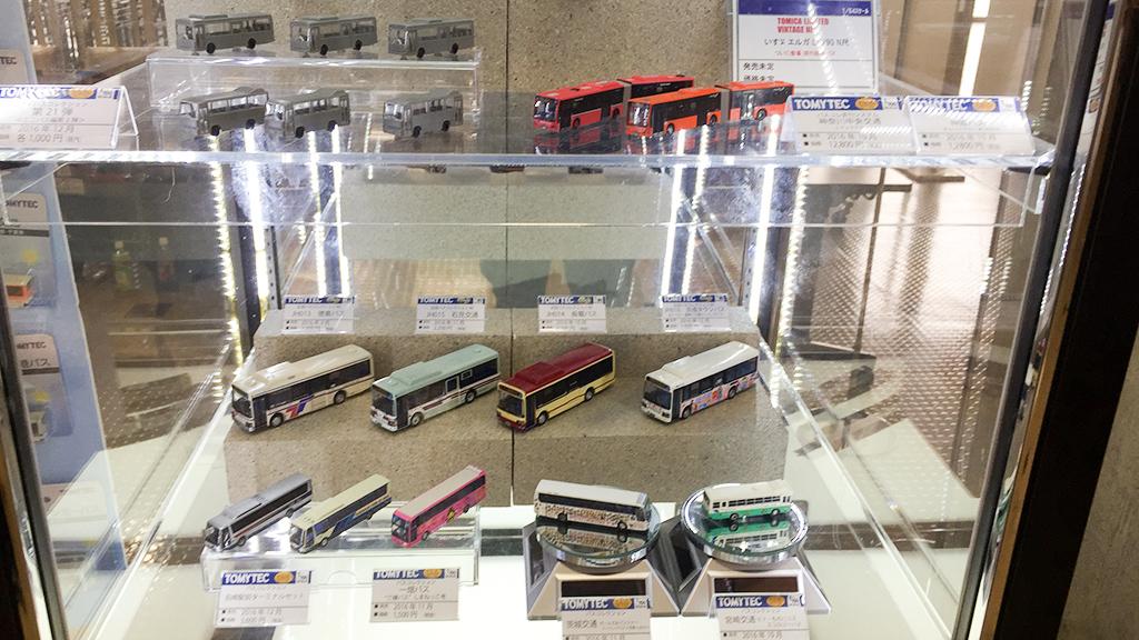 トミーテック・ブースには12月発売予定のバスコレ試作品も展示。