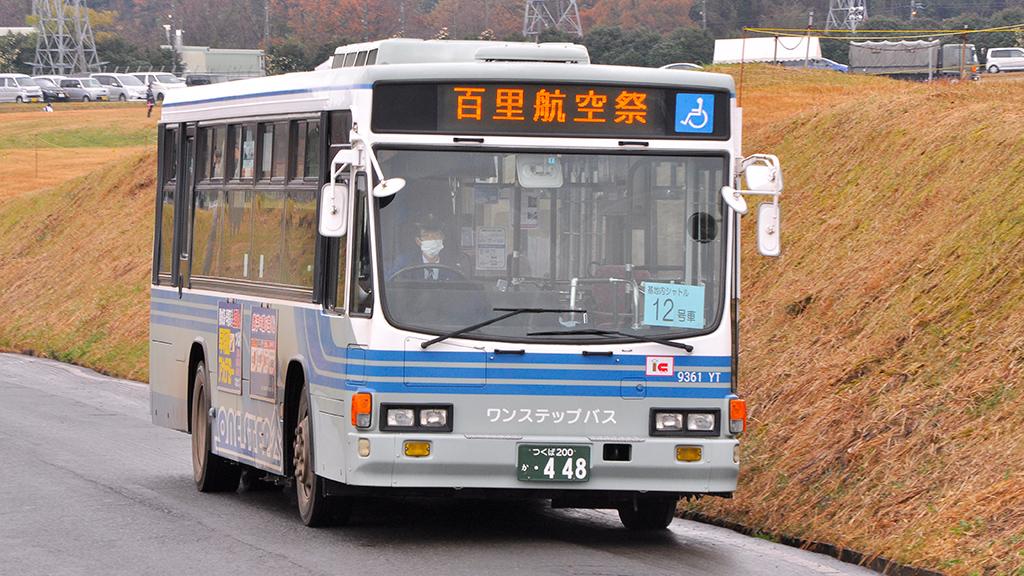 関鉄バス つくば中央営業所9361YT いすゞキュービック1998年式。ワンステップで中扉は4枚折戸。